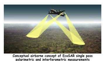 Project Image   EcoSAR The first P-band Digital Beamforming Polarimetric Interferometric SAR instrument to measure Ecosystem Structure, Biomass and Water
