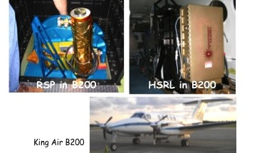 Project Image   Modification of HSRL and RSP for ACE, GEO-CAPE, and Glory Applications from the NASA P-3