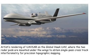 Project Image   Uninhabited Aerial Vehicle Synthetic Aperture Radar (UAVSAR) on Global Hawk