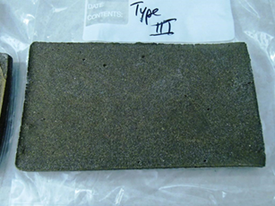A high temperature resistant material was created using foamed basalt