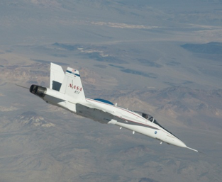 NASA's Full-Scale Advanced Systems Testbed (FAST) aircraft during LVAC experiment (#3)