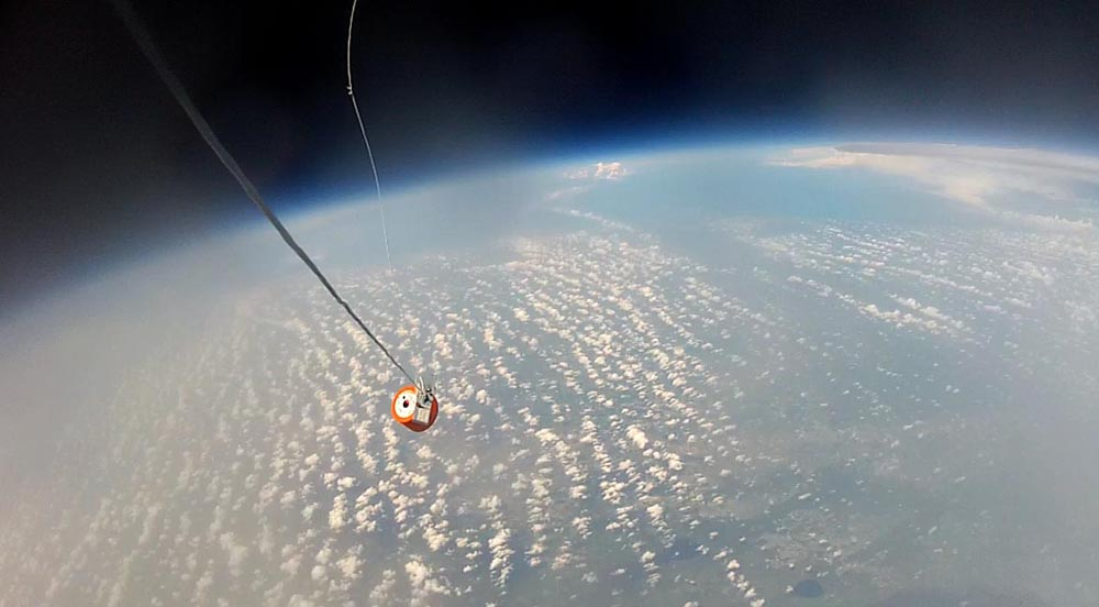 Project Image   Sub-Scale Re-entry Capsule Drop via High Altitude Balloons
