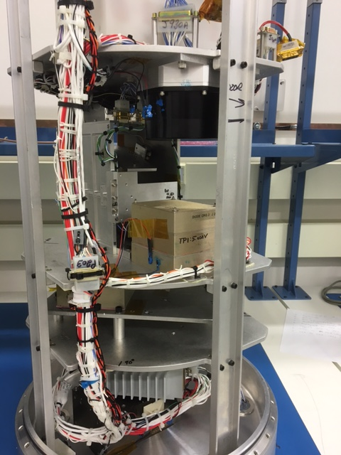 Single-axis experiment mounted in MUSIC payload.
