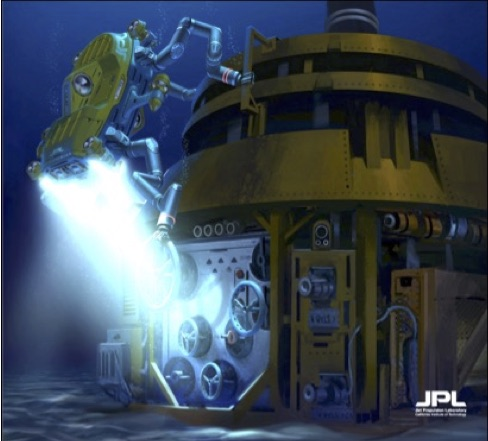 Project Image  Conceptual Artist Image of a Subsea Limbed Robot