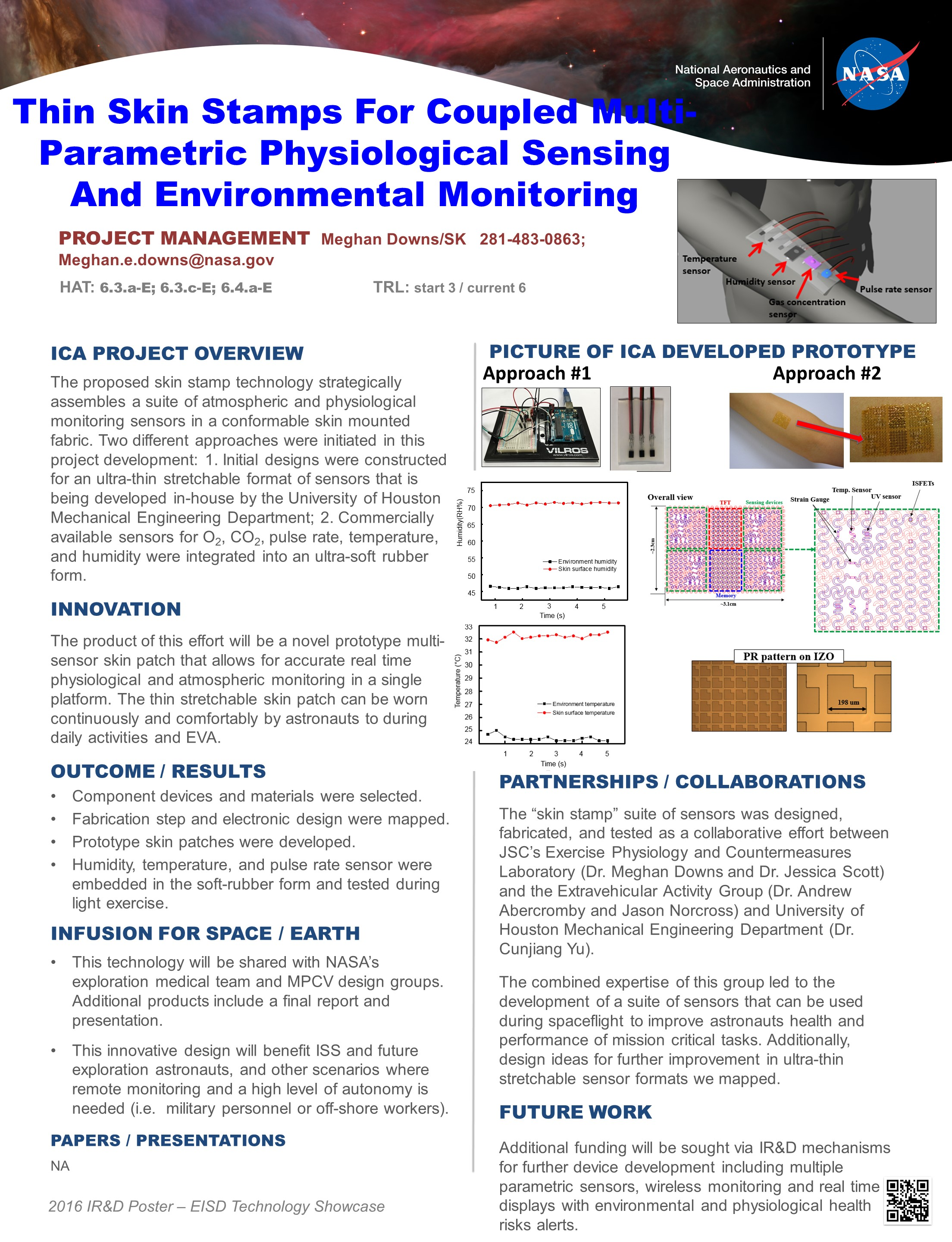 Physiological and Environmental Sensor Skin Stamp Technology Showcase 2016 Project Poster