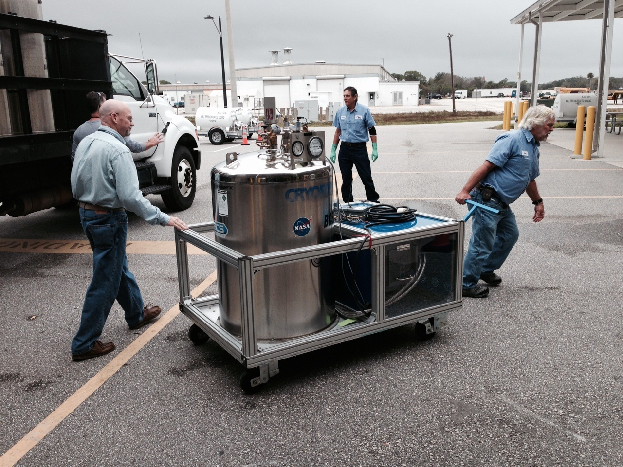 Prototype cart being put into operational use at Life Support Facility.