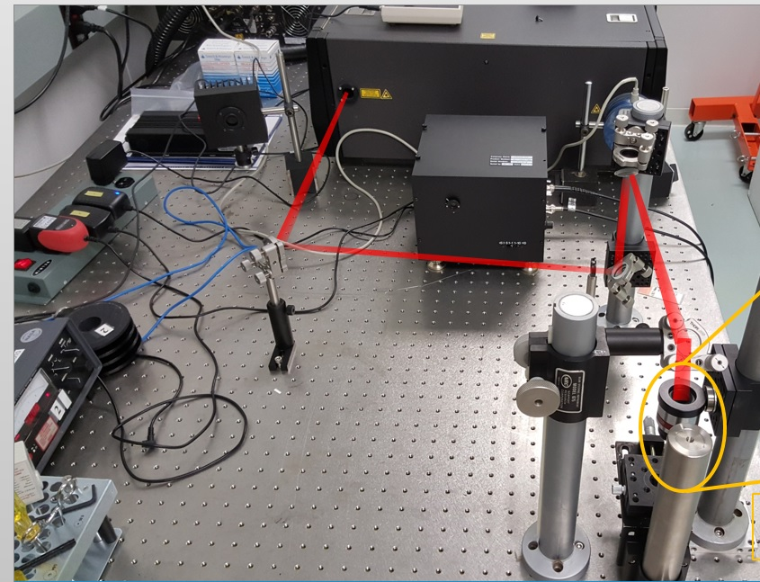 Beampath of the femtosecond laser
