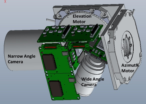 Shape, form and size pre-breadboard mock-up of mAPIC, showing the innovative design of the folded refractive optics of the 350 mm telescope. This science imager has superior performance than the MRO Optical Navigation Camera.