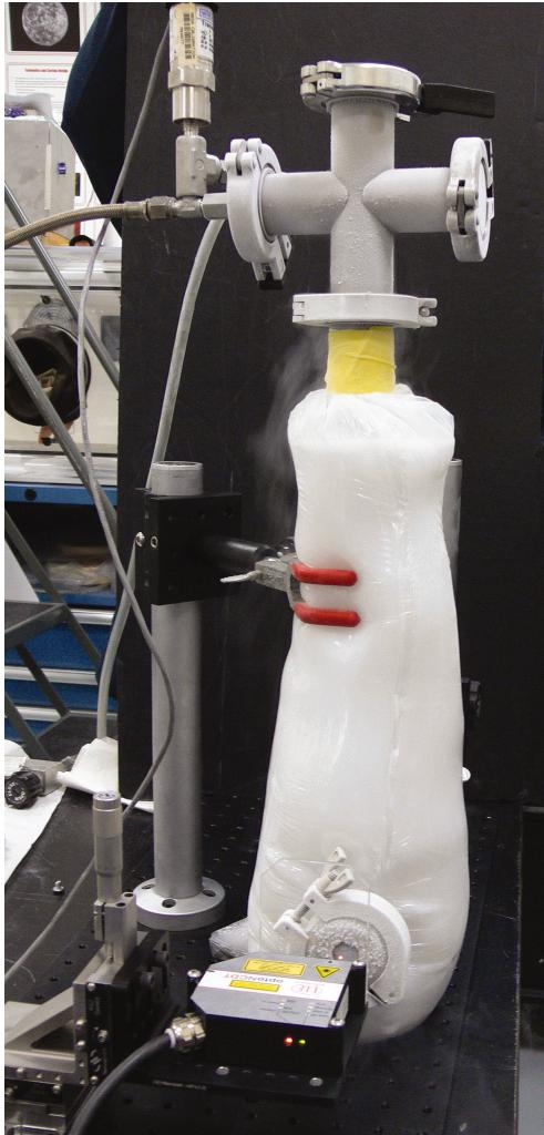Overview of test apparatus for cryogenic bulge testing