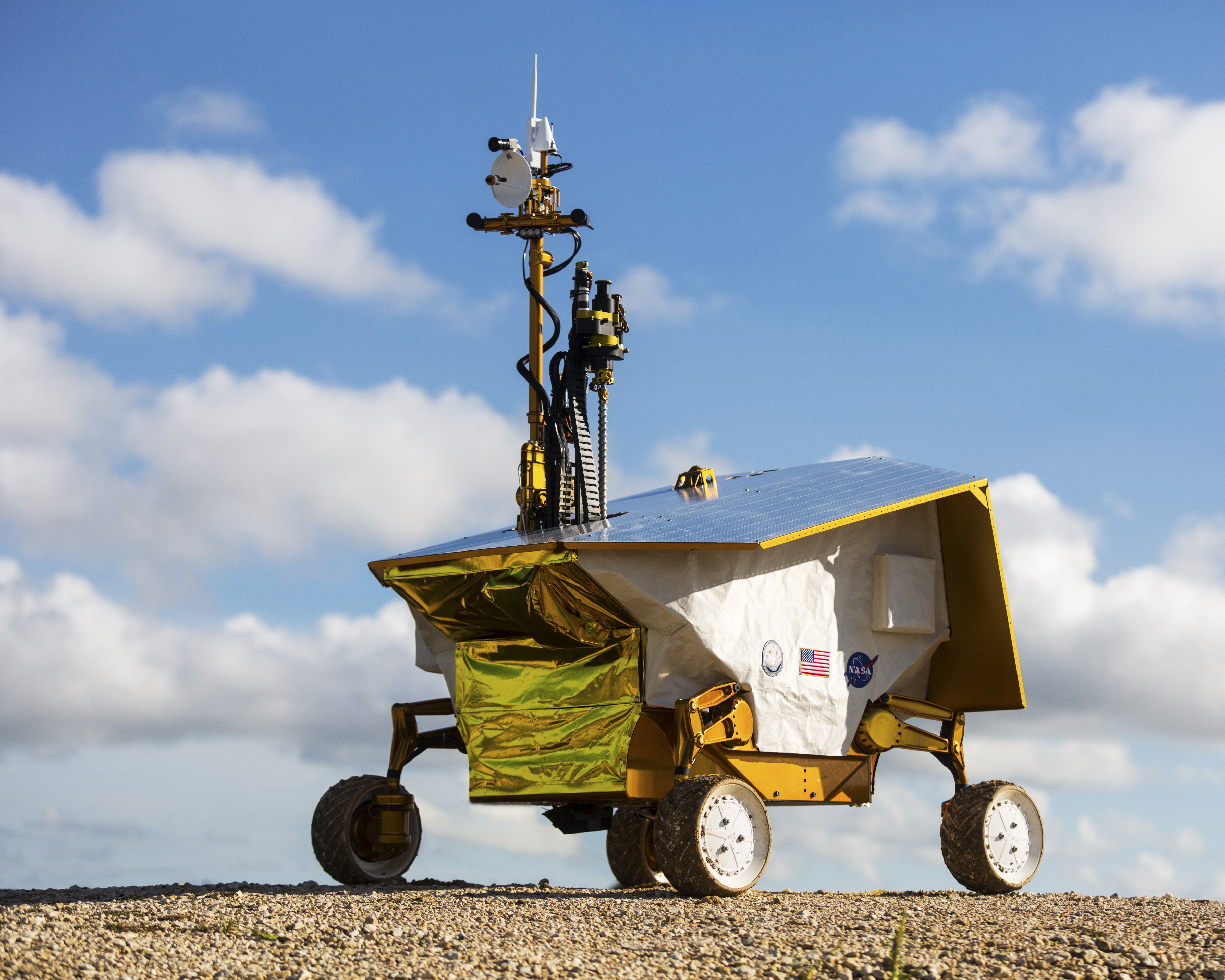 Built in only one year, this prototype rover/payload system enables terrestrial testing to inform system designs