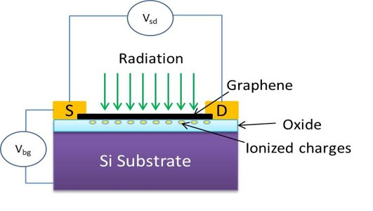 Graphene FET Radiation Sensor
